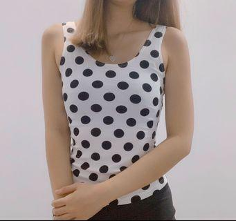 TEMT Polka Dot Top