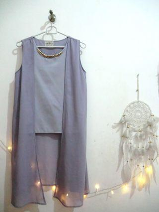 Blouse with outer