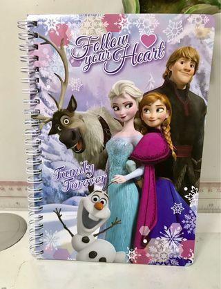 魔雪奇緣 Frozen 筆記本 簿 兒童文具
