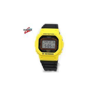 CASIO Casio G-SHOCK watch THROW BACK 1983 yellow × black DW-5600TB-1JF
