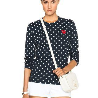 Authentic Womens Comme Des Garcons Longsleeve Polkadot (Navy)