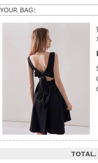 背後綁帶小禮服
