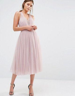 🚚 Little Mistress Embellished Tulle Dress