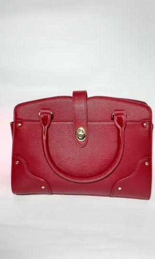 Balleza Perlita Handbag - Red - Wanita Hand Bag