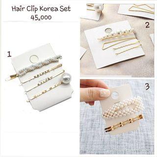 Hairpin Korea / Jepit Rambut Mutiara / Hairpin Pearl Set