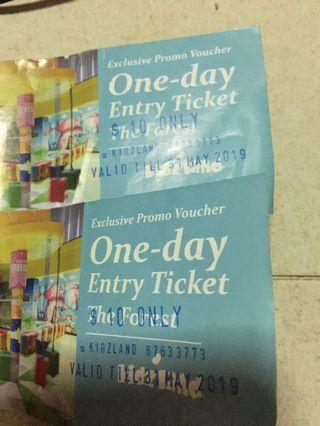 Kidzland tickets