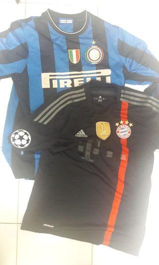 Inter milan and bayern jersey