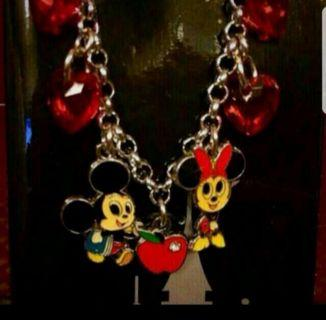 Mickey & Minnie Mouse Kids Necklace