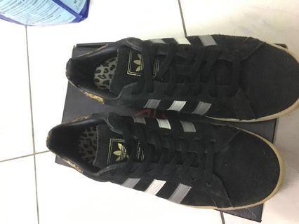🚚 正品adidas 豹紋板鞋24.5cm 39