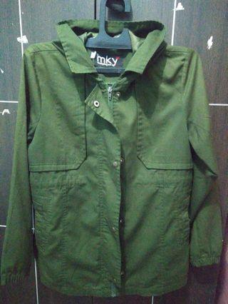 Jaket parka MKY hijau army