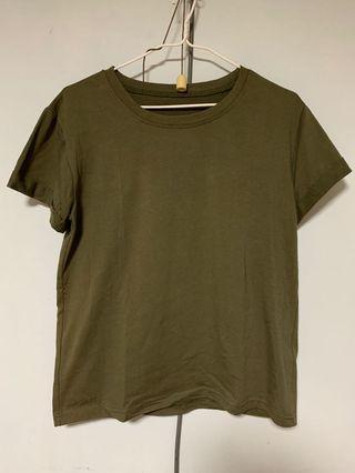 短袖 軍綠 短袖T恤 Top