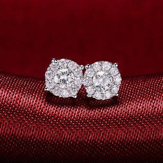 十圍一💎鑽石耳釘,主石16分/對,副石14分/對,特價🉐️2800/對