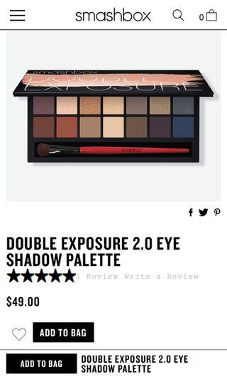 smashbox double exposure 2.0 eyeshadow palette