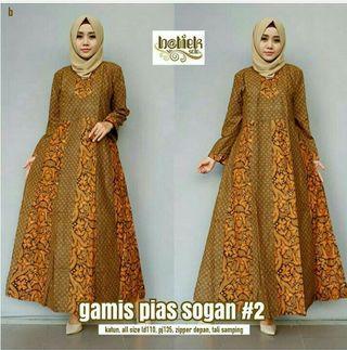 🚚 Long Dress/Gamis Batik