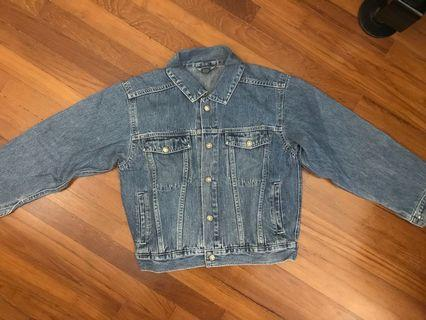 🚚 Dark Blue Cropped Denim Jacket