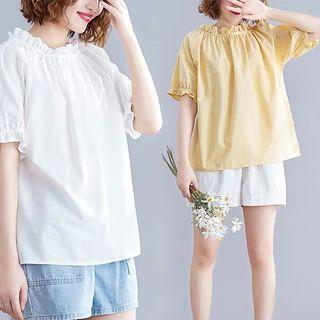 (L~XL) Short Sleeve Women's Summer Loose Casual T-Shirt