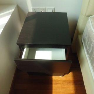 Cheapest Sale! Nice bedside wood cabinet 2 drawers $50 only!