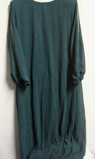 Jubah dress emerald green