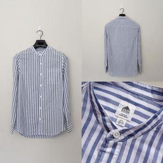 Kemeja cowok Basic House sanghai collar blue stripped