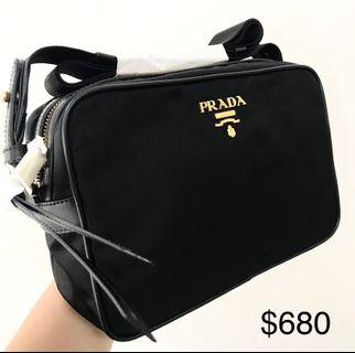 <SOLD, CONTACT ME TO ORDER> PRADA Black Nylon Sling Bag 100% AUTHENTIC+BRAND NEW! #1BH089
