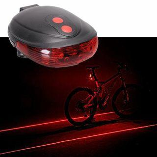 Bike Light with Laser Beam! While stocks last!