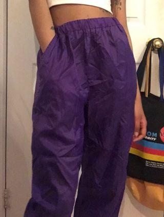 Purple Windbreaker Pants