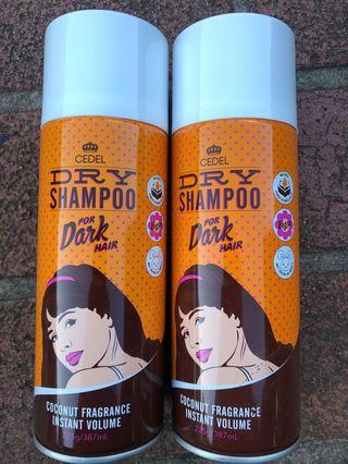 CEDEL dry shampoo 2pk - RRP $14 each