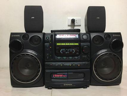 Pioneer vsx p760 stereo tunnel amplifier set 超強大先鋒床頭音響