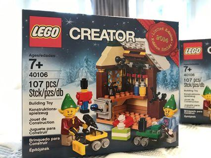 LEGO 40106 and 40107 Xmas limited edition