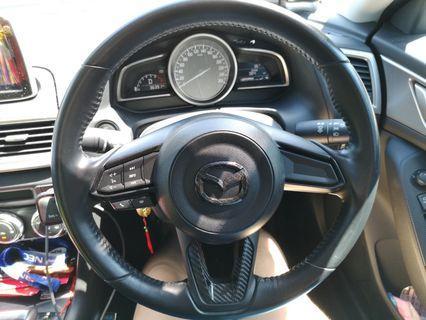 Mazda carbon fiber steering emblem cover
