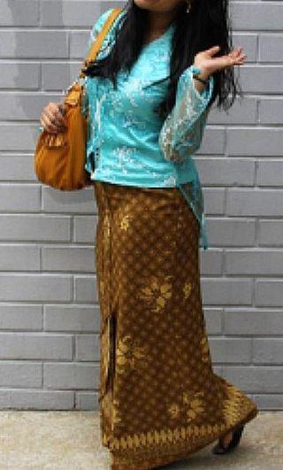Turqoise Top Baju kebaya lace