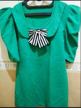 Kaos hijau korean look