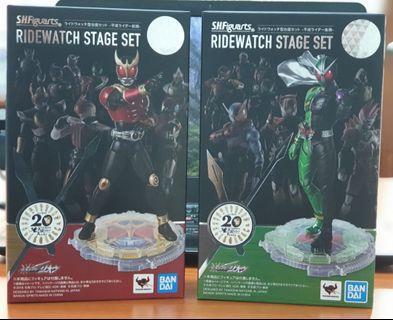 🚚 SHF SHFiguarts Kamen Rider Kicks Ridewatch Stage Set of 2 Early/Late Heisei