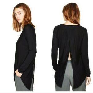 Aritzia Wilfred La Riviere Long Sleeve Open Back Top, Size: xxs, Colour: Burgundy