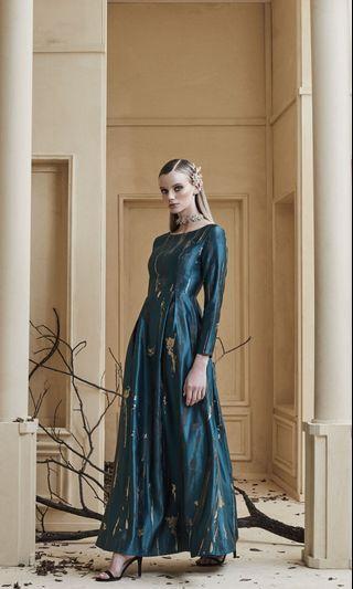 Zalia Abstract Jacquard Fit and Flare Dress