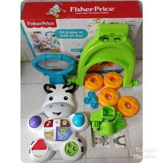 FREE POST Fisher Price Learn with Me Zebra Walker