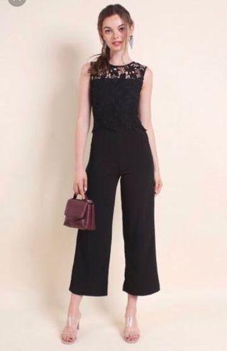 🚚 [BNWT] Neonmello Black Lace Jumpsuit