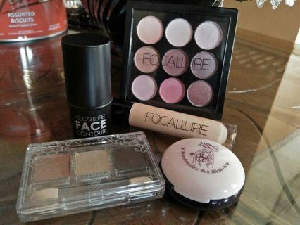 Bundle / Paket Make-up Focallure Contour, Concealer, Eyeshadow + Moko Moko Blush-on