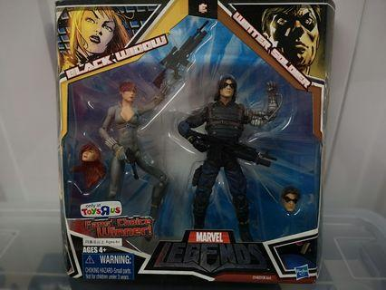 🚚 Marvel Legends Avengers Endgame Tru exclusive Black Widow and Winter Soldier variant Hasbro