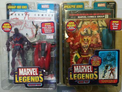 🚚 Marvel Legends Wonderman and IRON fist Variant Toybiz