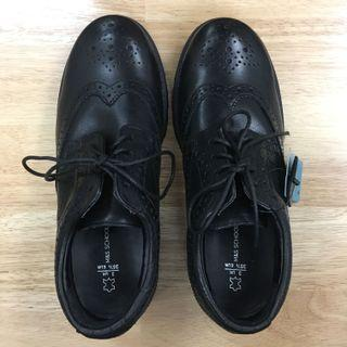Black Leather Shoes for Boys, Perfect for School (Eur35.5)