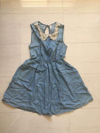 Denim Collared Dress