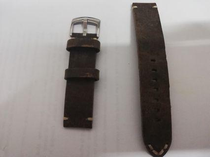 Leather Strap Brown 20mm