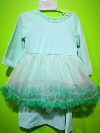 Tutu Kurung Mint Green  ( 1-2 years )