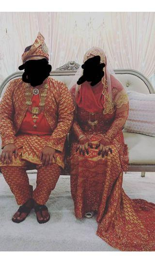 Couple songket for wedding