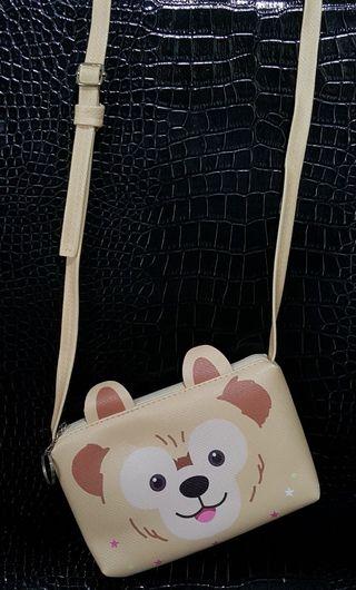 娃娃機分享物 達菲熊 側肩包 可調式側背包 斜背包 鑰匙圈包 隨身小方包 手機收納包 選物販賣機分享