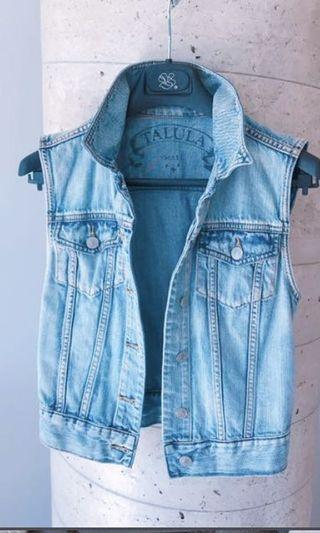 Aritzia Denim Vest Size Small
