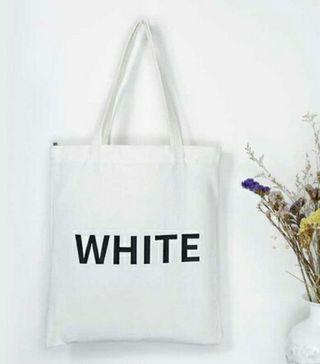White totebag