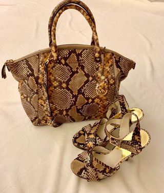 89a11a4c6ec2 Michael Kors Python Bag and Shoes Matching set