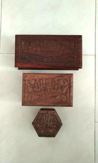 Balinese Wooden Box/Jewellery Box